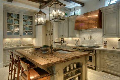 illumination rustic kitchens and lighting