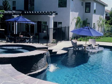 Pool Patio Designs Swimming Pool Features Hgtv