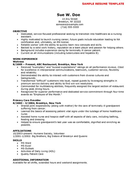 cna cover letter sle with no experience nursing resume templates exles foto 2017