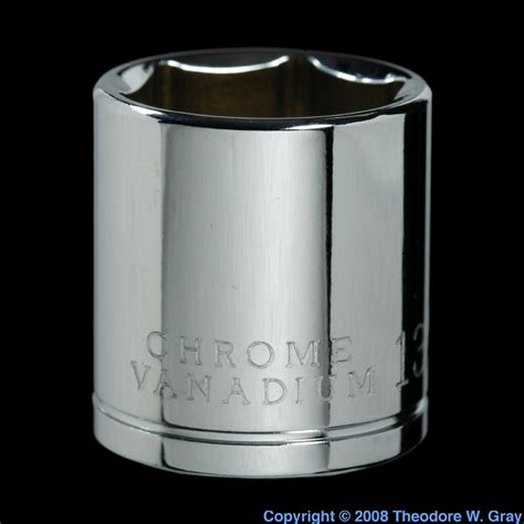 chromium vanadium chrome vanadium steel socket a sle of the element iron