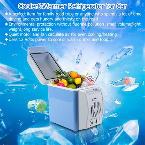 Crown Multifunction Warmer Car And Home mini car fridge portable 12v 7 5l auto refrigerator quality abs multi function cooler freezer