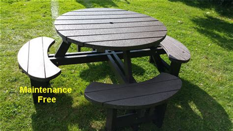recycled plastic picnic bench recycled plastic composite picnic table bench excalibur