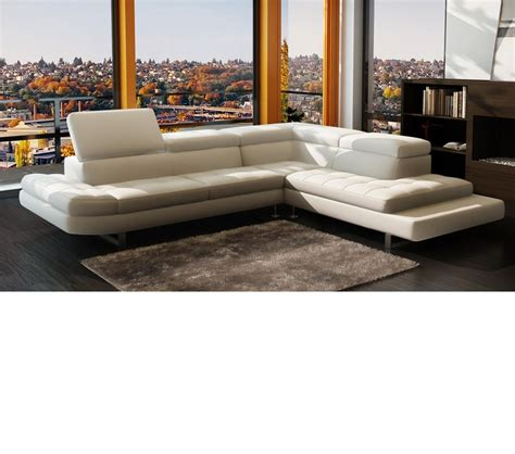 Contemporary Italian Leather Sectional Sofas Dreamfurniture 963 Modern Italian Leather Sectional Sofa