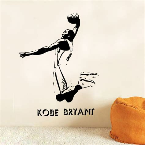 nba wall stickers removable sports wall stickers nba basketball player