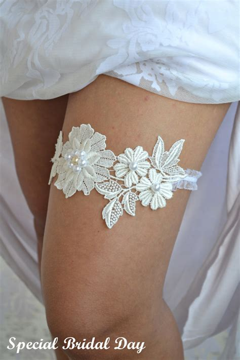 Wedding Garter by Ivory Lace Wedding Garter Set Ivory Bridal By Bridalspecialday