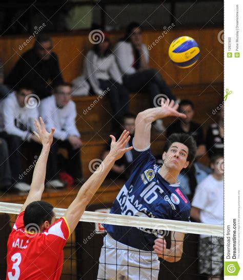 game design zagreb kaposvar mladost zagreb volleyball game editorial image