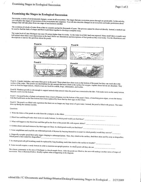 Ecology Worksheets by Ecology Worksheet Worksheets For School Getadating