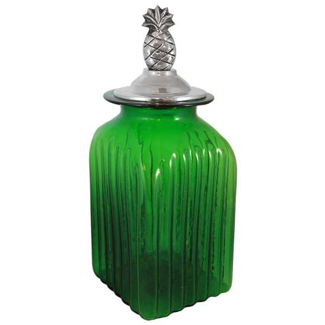 glass kitchen canister blown glass canisters collection pineapple kitchen