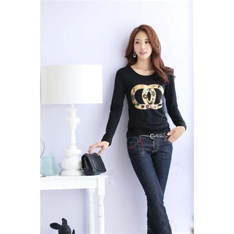 Kaos Lengan Panjang Impor Korea kaos lengan panjang model korea t1444 moro fashion