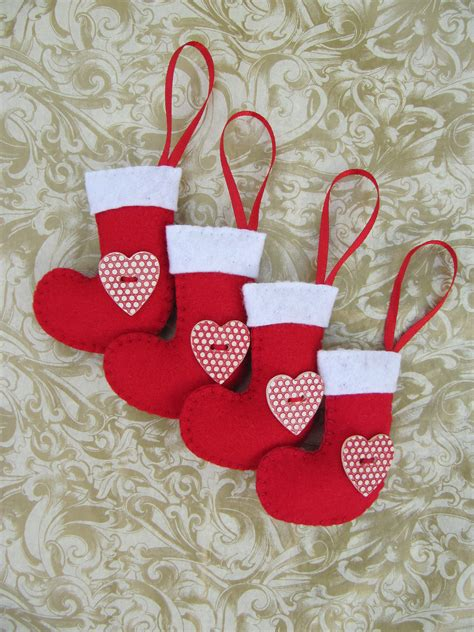 hattifers hand sewn gifts felt christmas stockings red 2