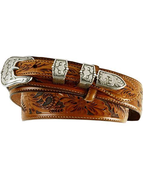 tony lama s tooled leather ranger belt c40585 ebay