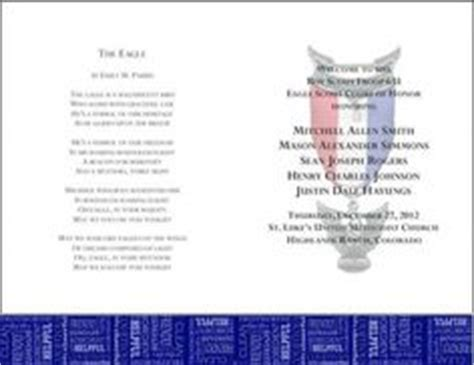 bsa blue card word template eagle scout ceremony programs templates eagle scout