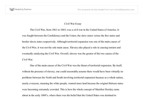 Was The Civil War Inevitable Essay Free by Civil War Essay International Baccalaureate History Marked By Teachers