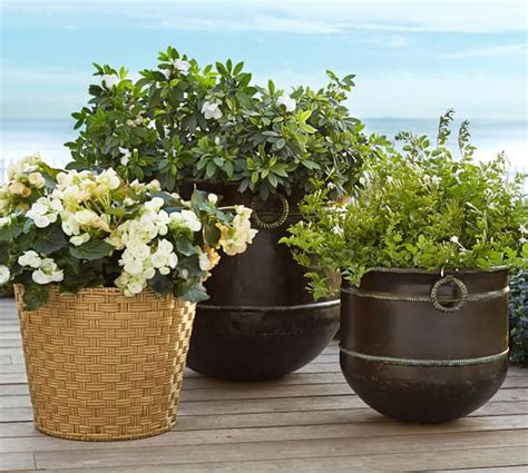 Pottery Barn Planters by Glenwillow All Weather Wicker Planters Pottery Barn