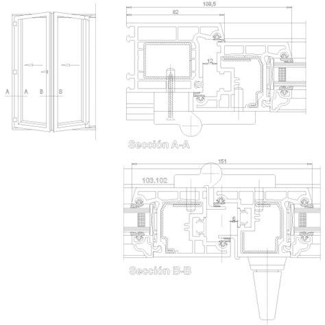 porta soffietto dwg finestra soffietto fisarmonica dwg free dettagli