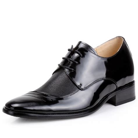 best black leather elevator dress shoes get taller image