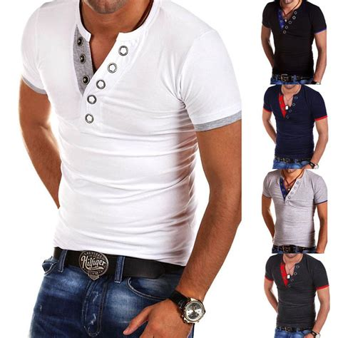 Kasual Tshirt stylish s shirt slim fit v neck sleeve