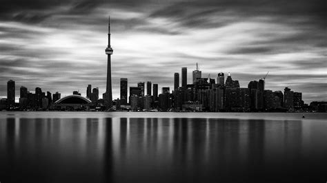 grey wallpaper toronto gray scale photo of space needle cityscape illustration