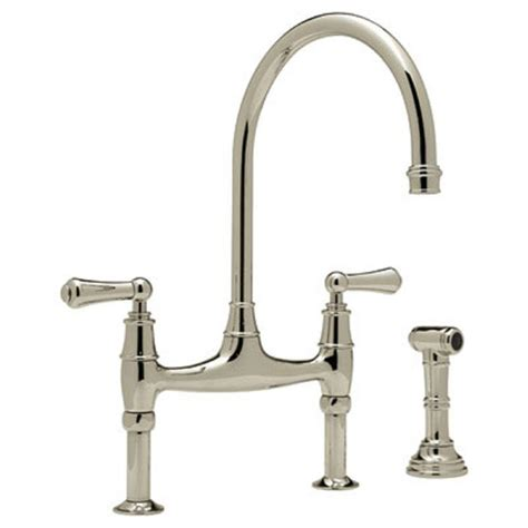 kitchen faucet bridge rohl perrin and rowe 2 handle bridge kitchen faucet in