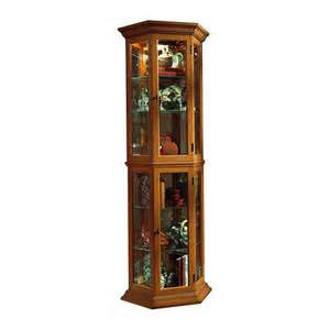 Curio Cabinet Name Origin Pulaski 70 Quot Curio Cabinet Oak Bj S Wholesale Club