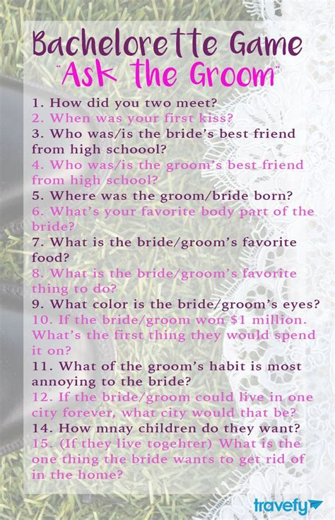 Wedding Planner Questions To Ask And Groom by Bachelorette Quot Ask The Groom Quot Gaming Bachelorette