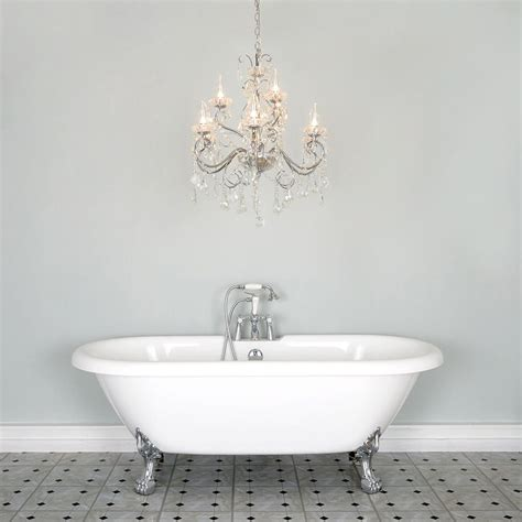 Chandeliers For Bathrooms Vara 9 Light Bathroom Chandelier Chrome
