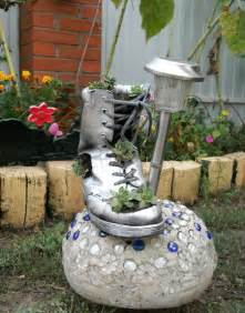 Home Garden Decor Diy Home Garden Decor Idea With A Shoe Planter And Succulents