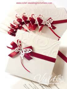 quot finesse quot wedding invitation violet handmade wedding