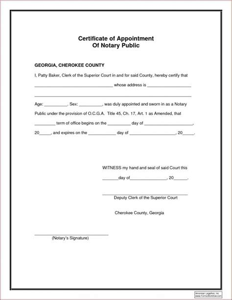 notarized document template notarized document template template business