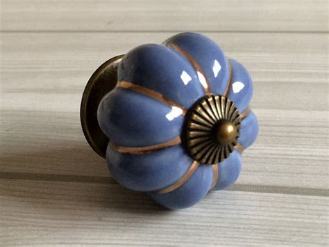 porcelain kitchen cabinet knobs blue pumpkin knobs kitchen cabinet knobs dresser knob