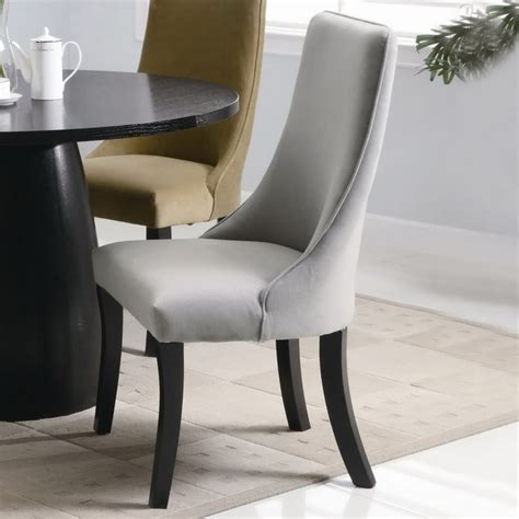 Grey Upholstered Dining Room Chairs Amhurst Gray Upholstered Dining Side Chair Set Of Two Transitional Dining Chairs New
