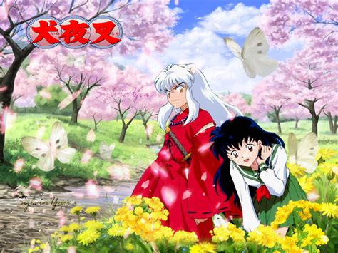wallpapers hd anime inuyasha inuyasha wallpaper sweet spring with kagome by sylviayau