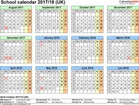 school year calendar template school calendars 2017 2018 as free printable excel templates