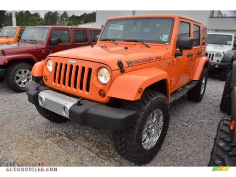 orange jeep wrangler unlimited for sale 2013 jeep wrangler unlimited 4x4 in crush orange