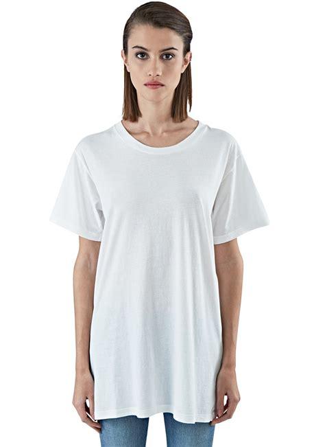 Tshirt Oversize lyst laurent s oversized sleeved t shirt in ivory in white