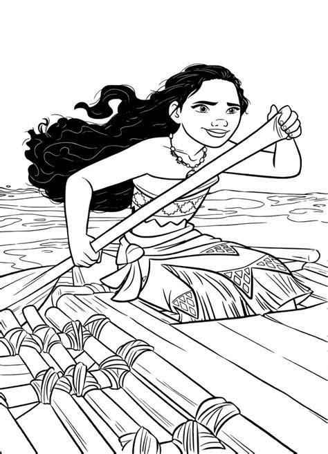 moana boat printable 35 printable moana coloring pages