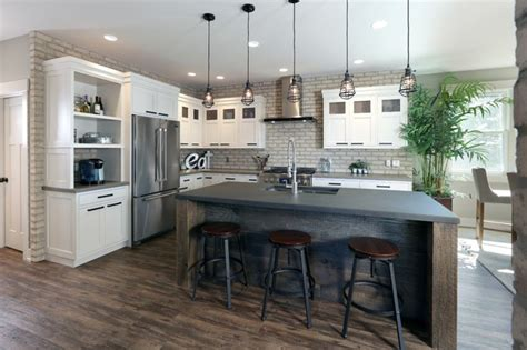 Modern Industrial Residence Industrial Kitchen Grand Rapids by Hard Topix LLC