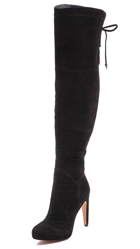 sam edelman the knee boots sam edelman the knee boots in black lyst