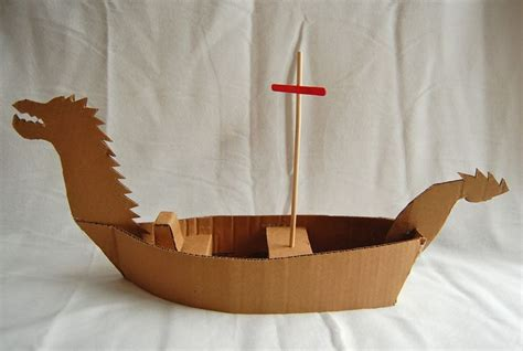 How To Make A Viking Longship Out Of Paper - cardboard pirate ship template woodworking projects plans