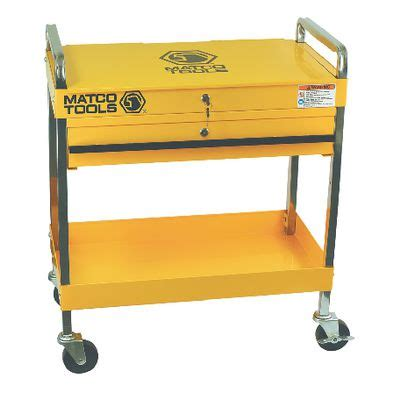 Matco 4 Drawer Tool Cart by Yellow Serv Cart W Lid Drwr Sp8230y Matco Tools