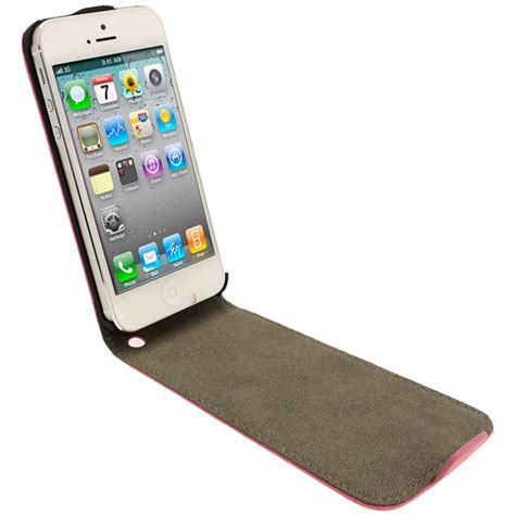 Casing Hp Unik Premium Leather Soft Pink Iphone 55s Iphone 66 pink pu leather flip for new apple iphone 5 mobile