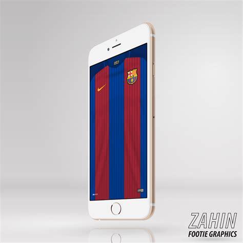 Iphone 7 Atletico Madrid Home Nike Hardcase barcelona 2016 17 zahin footie graphics