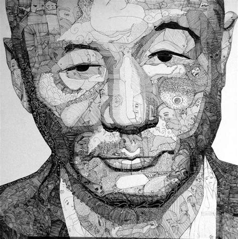 Sho Green intricate doodle portraits jason sho green