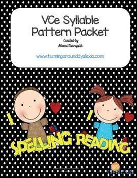 magic e pattern vce magic e syllable pattern set closed open syllable