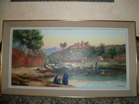 bureau d 騁ude casablanca btp troc echange tableau e jantet 1956 a l huile ft 60x120 sur
