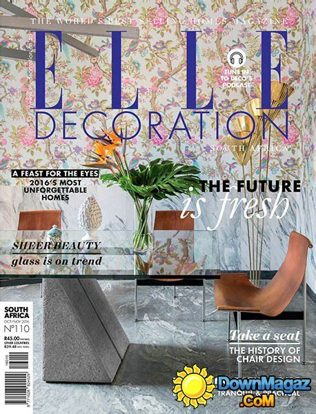 home decor magazines in south africa elle decoration sa october november 2016 187 download