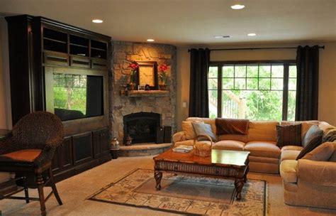 Corner Fireplace Design Ideas with Elegant Mantel   Home