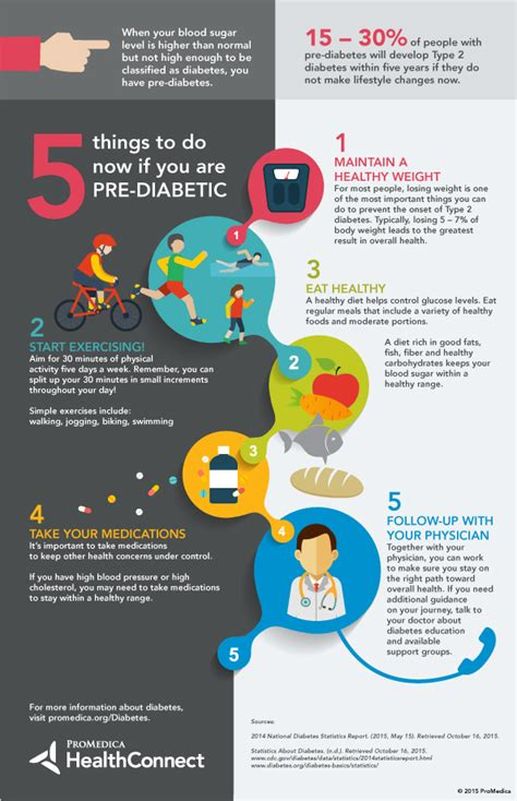 Things To Do For Healthy by Infographic 5 Things To Do Now If You Are Pre Diabetic