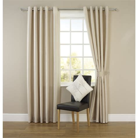 faux silk curtains wilko faux silk eyelet curtains natural 167 x 137cm at