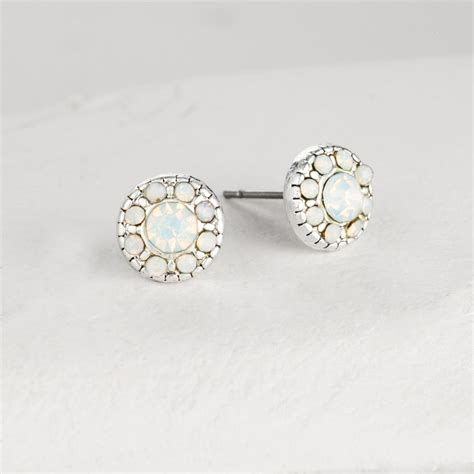 white opal earrings white opal stud earrings market
